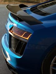 Audi R8 (Matze H.) Tags: audi r8 forza horizon 3 blue led rims v10 2016 carbon