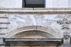 Missing (Istvan) Tags: relief disappear rome roma italy facade architecture stonework
