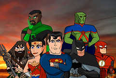 Art Shenanigans: The Justice League (AntMan3001) Tags: justice league superman wonder woman batman flash aquaman green lantern martian manhunter