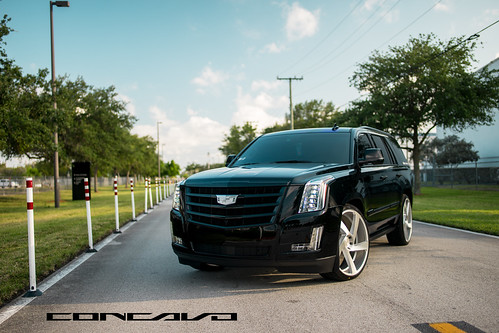 """Cadillac Escalade on 5D Brushed Silver • <a style=""""font-size:0.8em;"""" href=""""http://www.flickr.com/photos/77888731@N08/35600148250/"""" target=""""_blank"""">View on Flickr</a>"""