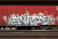 Erupto (Psychedelic Wardad) Tags: freight graffiti gtb sws dirty30 d30 vts a2m erupto327 erupto