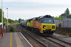 'scottish cement down south' 70802 6L44 Oxwellmains to West Thurrock @ Oakham (Iain Wright Photography) Tags: class70 70802 6l44 cement wagons freight colas rail railways railroad railfreight trains train locomotive locomotives ge general electric rutland england europe diesel uk west thurrock oxwellmains scotland dunbar people photo add additional info viewing privacy public safety level safe flag f favorite c comment s search navigation thumbnail z oakham colasrail jpa