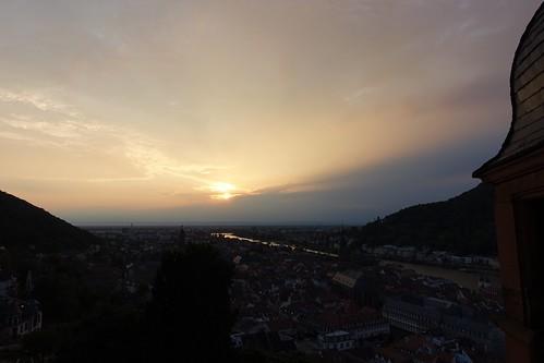dusk from Heidelberg Castle