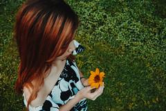 IMG_2802 (Niko Cezar) Tags: up diliman portrait nature school asian girl campus street manila philippines university white sunflower flowers