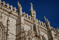 Los Jerónimos - Lisboa (rossendgricasas) Tags: sky city travel religion church tower old tourism architecture building nikon monument art stone facade ancient lisboa portugal photoshop exterior landmark no person gothic manuelino