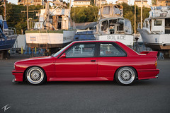 John's E30 M3 (Travis Cuykendall) Tags: bmw 1990 e30 m3 s14 red bbs rs 212 stance stanced low lowered flush fitment hellaflush stanceworks slammed slam photography bokeh d750 2470 28 everett washington nikkor polarizer recaro
