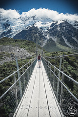 Natural Beauty Ahead (Christoph Lindemann) Tags: newzealand nz nzmustdo hookervalley hookervalleytrack swingbridge hike hiking purenature natureisbeautiful glacier glaciers mountains mountcook mountsefton peak wanderlust snow