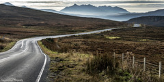 Follow your way. (lawrencecornell25) Tags: landscape skye scenery scotland cuillins mountains outdoors road isleofskye nikond4