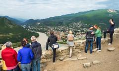 «Il est haut perché, ce monastère!» (Vincent Rowell) Tags: raw photoshopped georgia mtskheta jarvi monastery panorama southcaucasus2017 jarvimonastery
