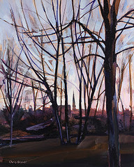 Through the Trees (cbreier) Tags: acrylic painting amherst autumn church fall island park paintings saints peter paul roman catholic steeple trees williamsville ny