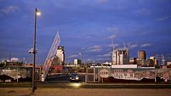 Stratford (I M Roberts) Tags: stratford urbansetting olympicpark car twilight panorama nightscene fujix100s