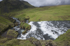Tiered falls on the Skoga River (Steven Olmstead) Tags: waterfalls cascade river green iceland d610