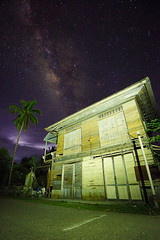 Milky Way over the old house (David B. - just passed the 5 million views. Thanks) Tags: macrohon southernleyte leyte philippines pilipinas teampilipinas pinas sea seascape landscape sky island beach sand beachlife florenciaisland boat boats bridge a6000 sonya6000 ilce6000 sonyilce6000 1018 sonye1018f4oss night nightshot milkyway voielactée star stars house coconut cocotier oldhouse street