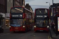Route 74, Putney High Street (London Bus Breh) Tags: goahead goaheadgroup goaheadlondon londongeneral alexander dennis alexanderdennis alexanderdennislimited adl alexanderdennisenviro400hmmc enviro400hmmc e400hmmc e40h mmc thewrightgroup wrightgroup wrightbus wright wrighteclipsegemini3 gemini3 volvo volvobus volvob5l volvob5lh volvob5lhybrid hybrid hybridbus hybridtechnology eh79 yy66oyh whv136 bv66vhk 66reg london buses londonbuses bus londonbusesroute74 route74 putney putneyhighstreet tfl transportforlondon