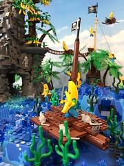19598528_1507072166022181_2529404932109558808_n (PUISSANCE BRICK) Tags: lego minifigs minifig afol bricks collectable island paradise hotdog shark maïs popcorn sausage saucisse banana banane puissancebrick sea ocean