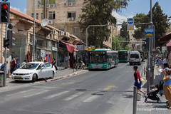 Jerusalem (Jan Dreesen) Tags: openbaar vervoer transport public transit israel jerusalem jeruzalem yerushalayim bus egged man natan strauss street jaffa center אֶגֶד traffic