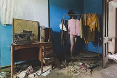 My heart within me like a stone (sadandbeautiful (Sarah)) Tags: me woman female self selfportrait abandoned house abandonedhouse clothes decay sylviaplath