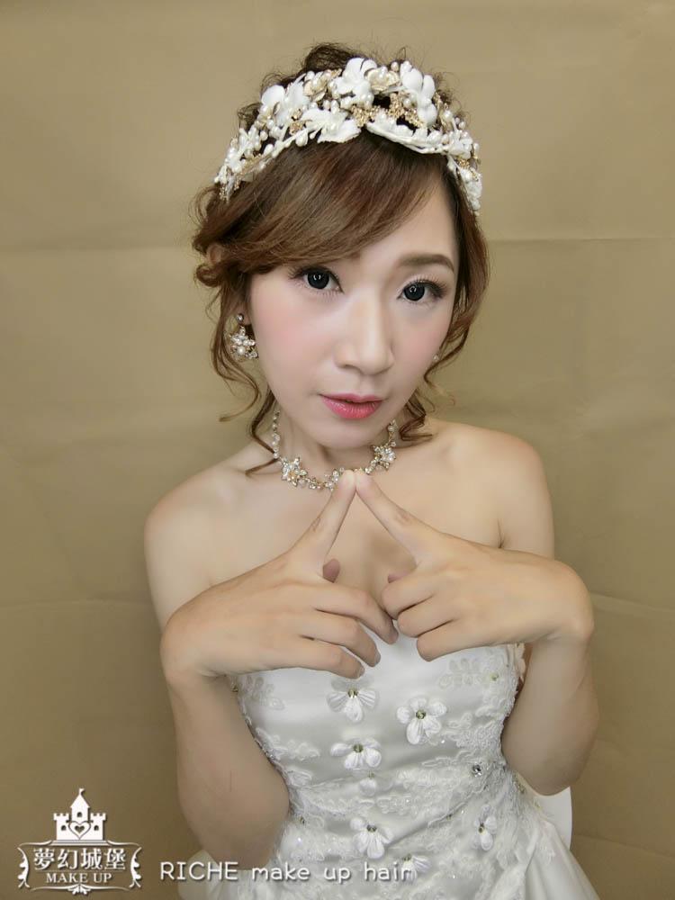 【新秘RICHE】新娘造型創作 / 氣質白紗造型