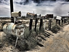 no postman needed on route 66 today... (Aces & Eights Photography) Tags: abandoned abandonment decay ruraldecay nomail route66 goffscalifornia