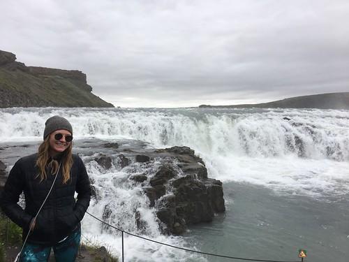 Erika Francks while backpacking in Iceland