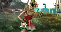 Watermelon Frenzy (delilahhannu) Tags: shop watermelon dress mesh delilah hannu irrisistible retro fantasy