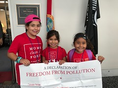 Tiny Activists outside of Senator Nelson's office