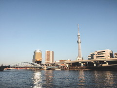 Walking to Tokyo Skytree (garygaldamez) Tags: japan japón travel travellers wanderlust iphone 5s photography streetphotography 日本 旅行 歩く blue day tokyo skytree city