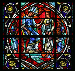 Joseph and his Brethren (Lawrence OP) Tags: joseph patriarch brothers grace cathedral sanfrancisco stainedglass window