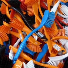Blue Brush (arbyreed) Tags: arbyreed squareformat brush brusheds ikea retail shopping lotsofthings close closeup colorful orange blue