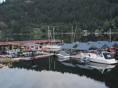 Marina (jamica1) Tags: nelson bc british columbia canada kootenay lake boat