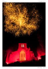 Vertaizon [Puy de Dôme} (BerColly) Tags: frnace auvergne puydedome vertaizon feuartifice juillet summer fireworks nuit night monumanet eglise oldchurch illumination bercolly googe flickr