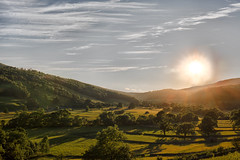 Yorkshire Sunset (jamesromanl17) Tags: nature landscape mountain sky outdoors travel hill sunset grass tree sun field valley cloud summer countryside yorkshire dales nationalpark sundown sunlight shadow shadows canon eos england britain 5d markiii skies