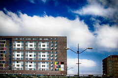 D   E   F   G   H   J   K   L (roberke) Tags: architecture architectuur building appartementsgebouw woningen straatverlichting modern sky lucht wolken clouds outdoor windows ramen vensters