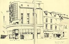 Rue des Francs-Bourgeois - Strasbourg (lolo wagner) Tags: usk croquis sketch strasbourg alsace