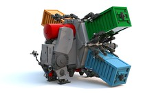 Light freighter OPT 232/4 (Zjyrnyi) Tags: lego ldd cargo transport spaceship space freighter engine container