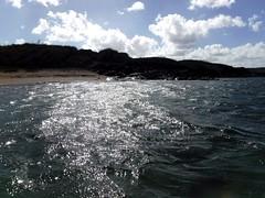 Later in the day (thomasgorman1) Tags: water dark reflection sunlit sunlight island beach lanai hawaii sky clouds fujifilm