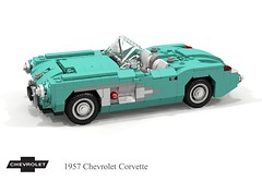 Chevrolet Corvette Roadster (C1 - 1957) (lego911) Tags: chevrolet chevy chev corvette roadster convertible 1957 c1 1950s classic v8 gm general motors auto car moc model miniland lego lego911 ldd render cad povray lugnuts challenge 117 acultfollowing cult following usa america cove foitsop