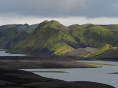 "Langisjor Lake (Say ""Wasabi"") Tags: iceland icelandic langisjor water highlands island landscape scenery olympus m43 mzuiko1240 omdem5ii moss green ash black volcanic"