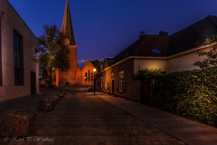 Doorn, The Netherlands (Karel Warburg) Tags: doorn thenetherlands holland evening dark church oldhouses bluehour canon50d tripod