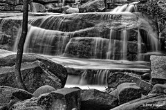 Diana's Baths (pandt) Tags: dianas baths conway bartlett newhampshire whitemountainnationalforest white mountains water waterfall falls hdr long exposure river creek stream canon 7d eos slr flickr blackandwhite bw monochrome outdoor landscape nature rocks forest serene newengland flow