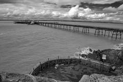 Birnbeck Pier, Weston-super-Mare, Black and White, Monochrome