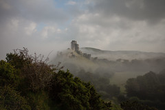 the castle in the mist (stocks photography.) Tags: michaelmarsh photographer photography corfe castle landscape thecastleinthemist fog