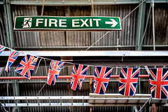 The UK government's approach to the Brexit negotiations (Massimo Usai) Tags: capital england europe london londonist town travel greatbritain flag fireexit brexit negotiations politics fantasy