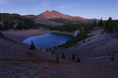 As The Light Fades (deanhebert) Tags: sunset lake mountain volcano oregon three wilderness sisters moraine dusk twilight silent