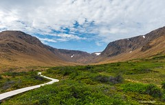 Trail to the Tablelands (Photosuze) Tags: grosmorne canada tablelands mantle earth path trail clouds sky landscaape mountains geology newfoundland