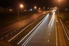 Going south (neil.bather@xtra.co.nz) Tags: motorway lights night drury auckland new zealand highway sh1