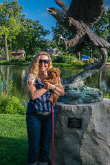 My Two Girls (tquist24) Tags: cavapoo elkhart indiana nikon nikond5300 outdoor sicily wanda wellfieldbotanicalgardens cute dog eagle geotagged girl pnd portrait pretty puppy reflection reflections sculpture sky smile tree water woman unitedstates