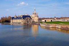 Chantilly, France (mistca) Tags: water sky palace chantilly france europe reflection