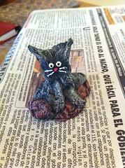 Gato (Gatos y Corazones) Tags: gato gatos pets sculpture escultura manualidades crafts artesania reciclar recycled cat fun materials art design arte