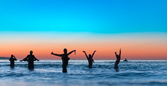 Sunrise Tuesday 18th July 2017 (Michael.Sutton) Tags: silhouette sunrise winter ocean blue sky cronulla sydney australia